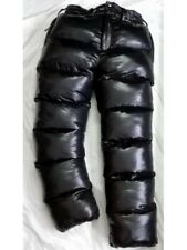 Glossy Shiny Nylon Wetlook Winter Trousers Down Pants Unisex Overfill glanznylon