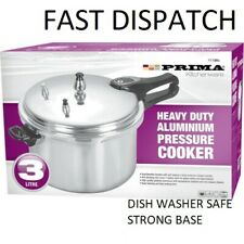 3 LITRE PRESSURE COOKER ALUMINIUM 3L KITCHEN CATERING HOME BRAND NEW PRIMA11188
