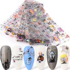 10 pcs 20X4 cm Halloween Pumpkin Nail Foil Transfer Decal Professional Manicure