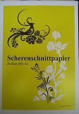 5 X 20Blatt =100 Blatt Scherenschnittpapier Scherenschnitt Papier A4  090