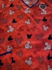 Disney Red Mickey Mouse scrub top xl