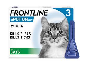 Frontline Spot On Flea,Tick & Lice Treatment for Cats 3 Pipettes  AVM-GSL