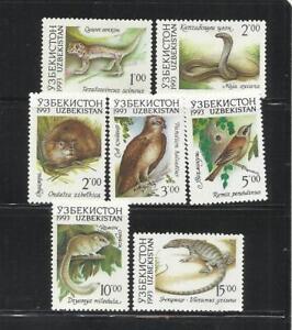 UZBEKISTAN. Año: 1993. Tema: FAUNA. ANIMALES DIVERSOS.