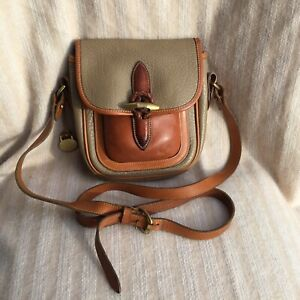 Dooney and Bourke Outback Saddle Bag inTaupe