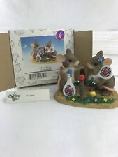 "Fitz And Floyd Charming Tails ""Two Love� Mice Figurine (Item 87/807) 4.5�L"