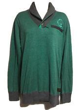 G-STAR RAW Mens S Designer Jumper Sweater Shawl Neck Pullover Cotton Spring