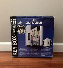 Durable 1966 23 Key Box Key Box 36 hooks, with combination lock and panel,