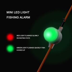 Night Fishing Rod Tip Clip on Fish Strike Bite Alert Alarm Flash Light
