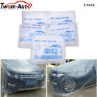 5 Pack Clear Plastic Temporary Universal Disposable Car Cover Rain Dust Garage
