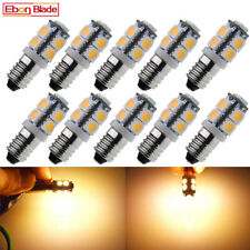10 x E10 Light Bulb 12V LED Screw 1447 Indicator instrument Width Signal Lamp