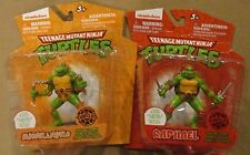Lot 2 Teenage Mutant Ninja Turtles Figures Clip & Go Michelangelo & Raphael NIP