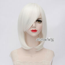 Lolita White Short 40CM Bob Fashion Party Women Cosplay Wig + Wig Cap