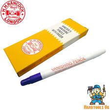 Hancocks Blue Tailors Vanishing Pencils with Eraser - 5 Pack