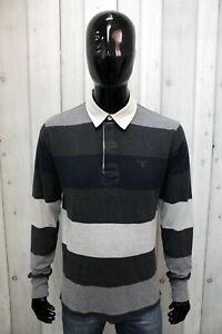 Polo Gant Uomo Taglia L Maglietta T-Shirt Cotone Maglia Logo Man Manica Lunga