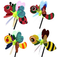 3D Animal Bee Ladybug Windmill Wind Spinner Yard Garden Outdoor Decor T JF
