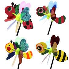 3D Animal Bee Ladybug Windmill Wind Spinner Yard Garden Outdoor Decor C AJ