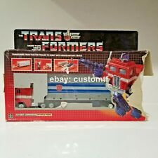 Vintage 1984 Transformers G1 Optimus Prime Gray Bloated Metal Pre-Rub Takara*B6