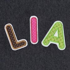 0313 Aufnäher Buchstabe ♥ ABC ♥ Applikation Alphabet 6,5 cm ♥ Patch Buchstaben