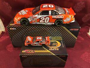 TONY STEWART #20 Home Depot 2001 RCCA 1/24 Elite & 1/64 HO Car Diecast  SET