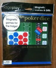 REFRIGERATOR POKER DICE - MAGNETIC GAME - HOURS OF FUN!