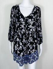 AMERICAN RAG CIE // Size M // NEW Black Boho Floral Playsuit