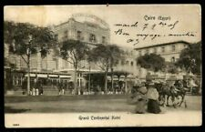EGYPT 1903 OLD POSTCARD GRAND CONTINNENTAL HOTEL TO PORT SAID