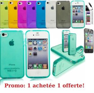 Case Cover Silicone Gel IPHONE 4 4S 5 5S 6 6 Plus +Film+Stylus