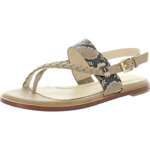 Cole Haan Womens Anica Leather Snake Print Thong Sandals Shoes BHFO 3214