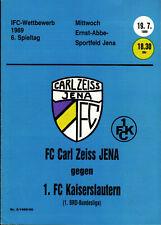 IFC 19.07.1989 FC Carl Zeiss Jena - 1. FC Kaiserslautern, Edition A, InterToto