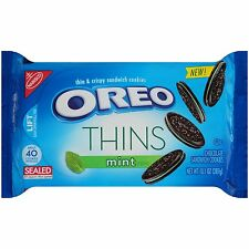 NEW SEALED NABISCO OREO THINS MINT CRISPY CHOCOLATE SANDWICH COOKIES 10.1 OZ
