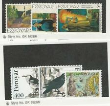 Faroe Islands, Postage Stamp, #284-289 Mint NH, 1995 Birds, Map