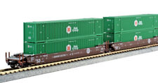 Kato N Scale Maxi-Iv 3 Well Car Set w/6 Hub Containers Bnsf #253791 1066177