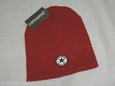 BNWT - CONVERSE Chuck Taylor All Star Ribbed Beanie Hat  Chilli Pepper Red