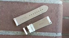 24mm WHITE AUTHENTIC ICE TEK Genuine Crocodile Watch Interchangeable Band Strap