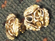 Vintage Marboux Clip On Earrings. Gold Tone with Rhinestones