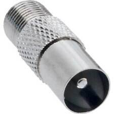 InLine® Koaxial Adapter, IEC- Stecker (Antenne) auf F-Buchse, 5 Stück