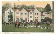 FOX HUNTING WEST SOMERSET FOXHOUNDS AT NETTLECOMBE HALL 1900'S