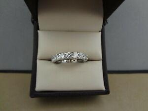 GORGEOUS 18K WG 1.90 TCW ROUND DIAMOND ETERNITY BAND