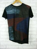 Country Road t-shirt top womens black green blue print size XS, 8