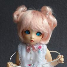 """6-7"""" 1/6 BJD Hair IP yoSD doll wig fee Super Dollfie peach pink balls M-mohair"""