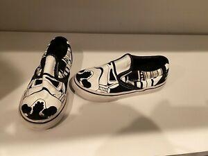 Star Wars Stormtrooper Vans Kids Classic Slip-on Shoes Sneakers Size 10