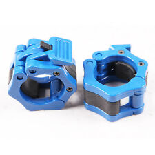 50mm A Pair Lock Jaw Collars Olympic Barbells Muscle Clamp Bar Lockjaw 2''Blue