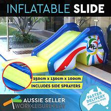 Inflatable Pool Slide Jumbo Pool Toy Sprayers Boating Camping Fishing Airtime