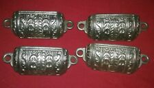Antique Lot 4 Ornate Cast Iron Cup Style Drawer Pulls Apothecary Medical Cabinet