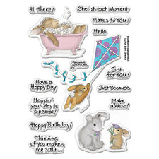 HOUSE MOUSE RUBBER STAMPS CLEAR HOPPY MOMENTS HAPPY HOPPERS NEW clear STAMP SET