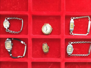 Ladies Vintage Wrist Watch Collection - 6 tickers