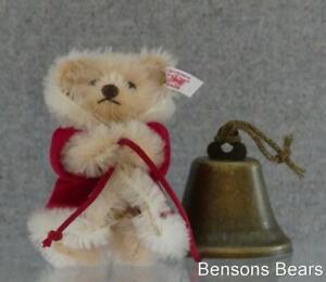 Steiff 2003 Christmas Santa Teddy Bell Ringer Hanging Tree Ornament Ean 037870