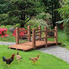 Garden Bridge Wooden 5 Ft Pond Arched Lawn Outdoor Japanese Fairy Wood Decor