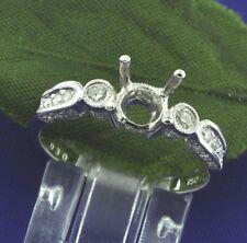 0.30 ct 18k Solid White Gold Ladies Semi Mount Diamond Ring Engagement Wedding