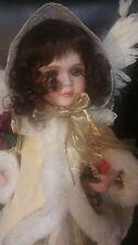 """Ellenbrooke Victorian Snow Cherub Christmas Doll 15"""" Artist Connie Walser Derek"""